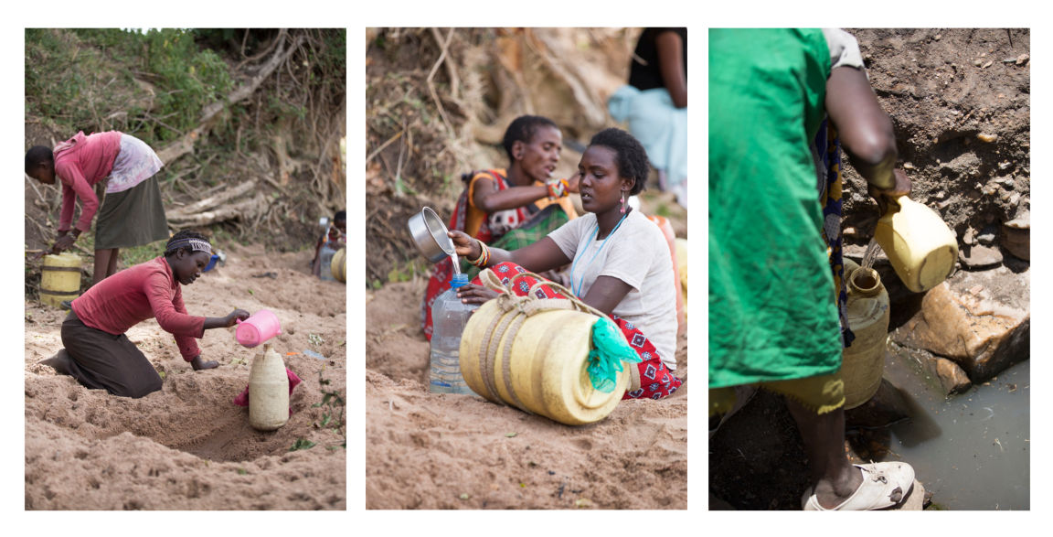 Maasai women struggle to get water for their families. Clean water is not even an option for them.