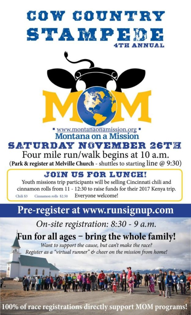 Register now for Montana on a Mission's 4th annual Cow Country Stampede