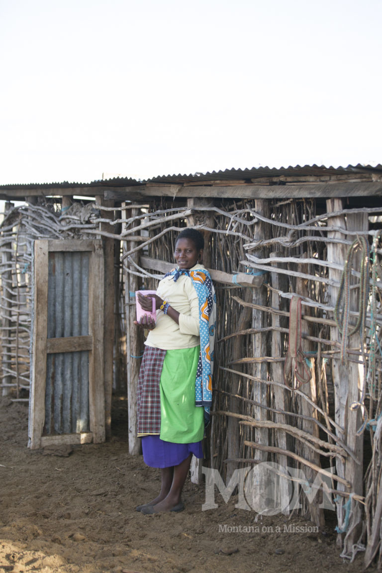 Maasaimama, Noomali is able to sell the surplus milk to help pay the children's school fees.