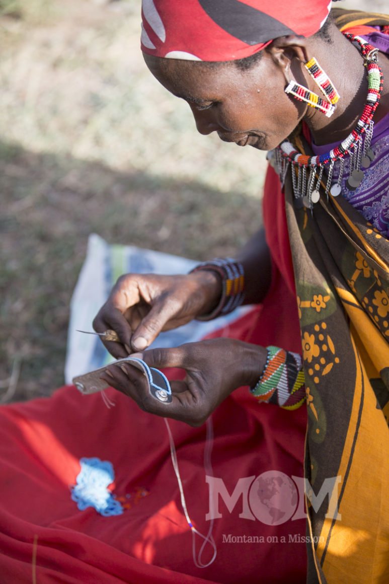 The Maasai are well known for their skill at hand beading. Montana on a Mission brings back these hand-made pieces and sales from them go 100% to the water projects in these women's communities.
