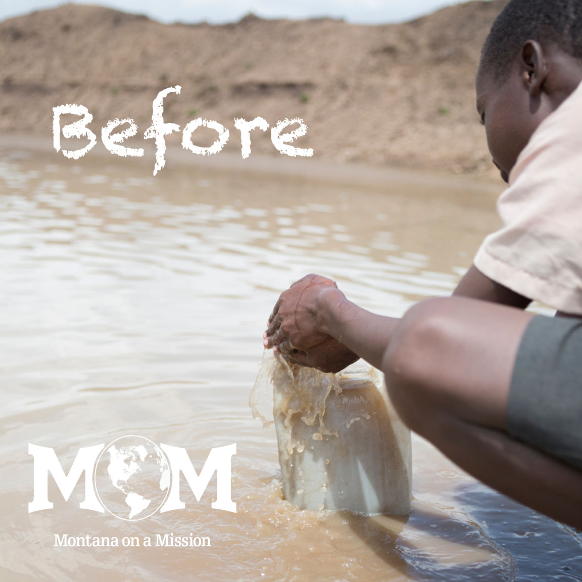 The students at Ilturisho primary had to walk to this 'dam' or reservoir to fetch water before the Montana on a Mission borehole and pipeline was installed in their community. The water comes from runoff and is unbelievably dirty and contaminated.
