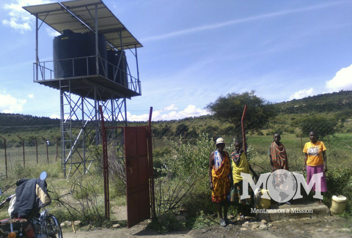 A recent photo at the Montana on a Mission Ilturisho borehole.