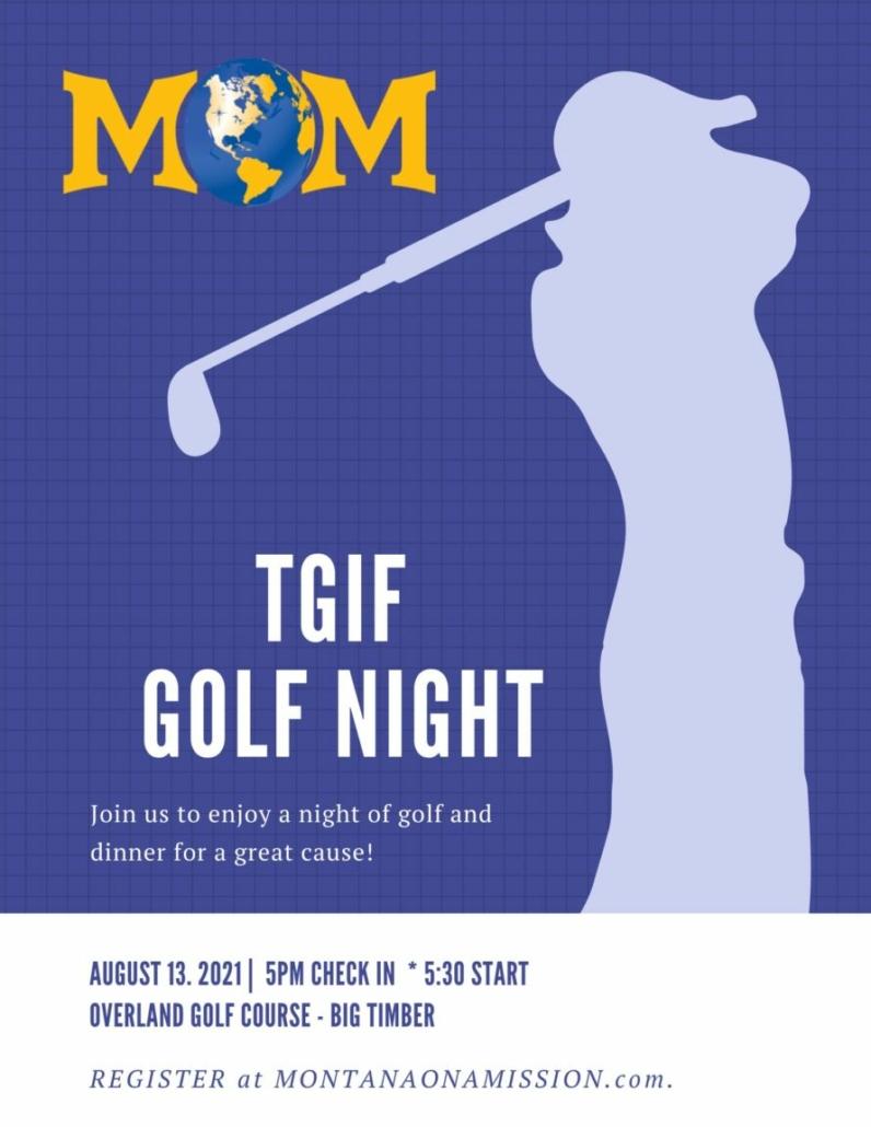 TGIF Golf Night August 13th